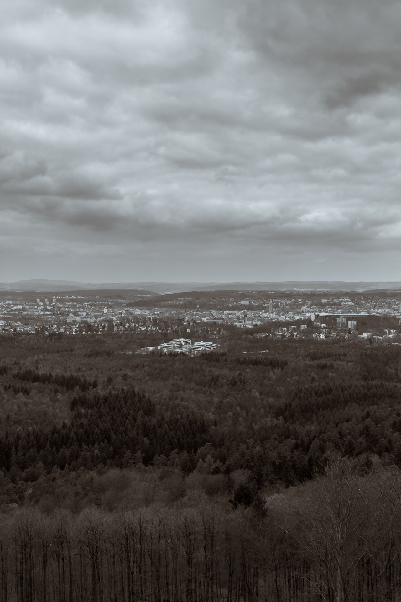 Blackandwhite Blackandwhite Photography City Cityscapes Cloud - Sky Clouds Day Forest K-Town Kaiserslautern Landscape No People Outdoors Scenics Sky Toned Black And White