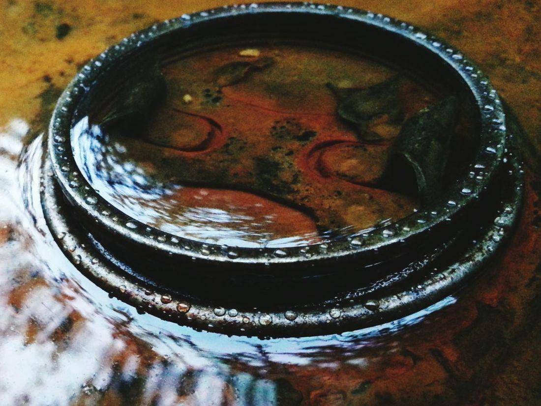 Oil Drum Water Rain Oildrum