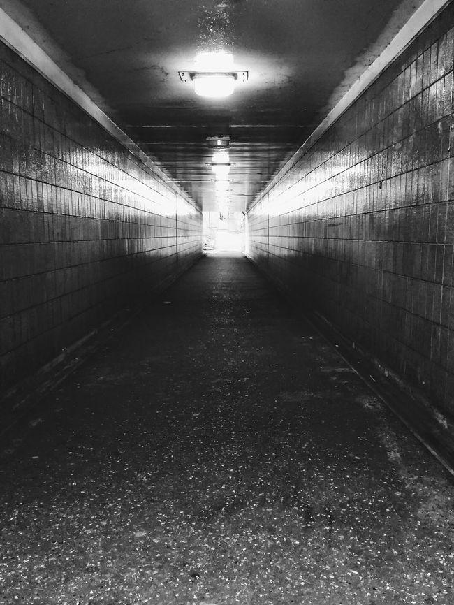 Black & White Black And White Subway Tunnel