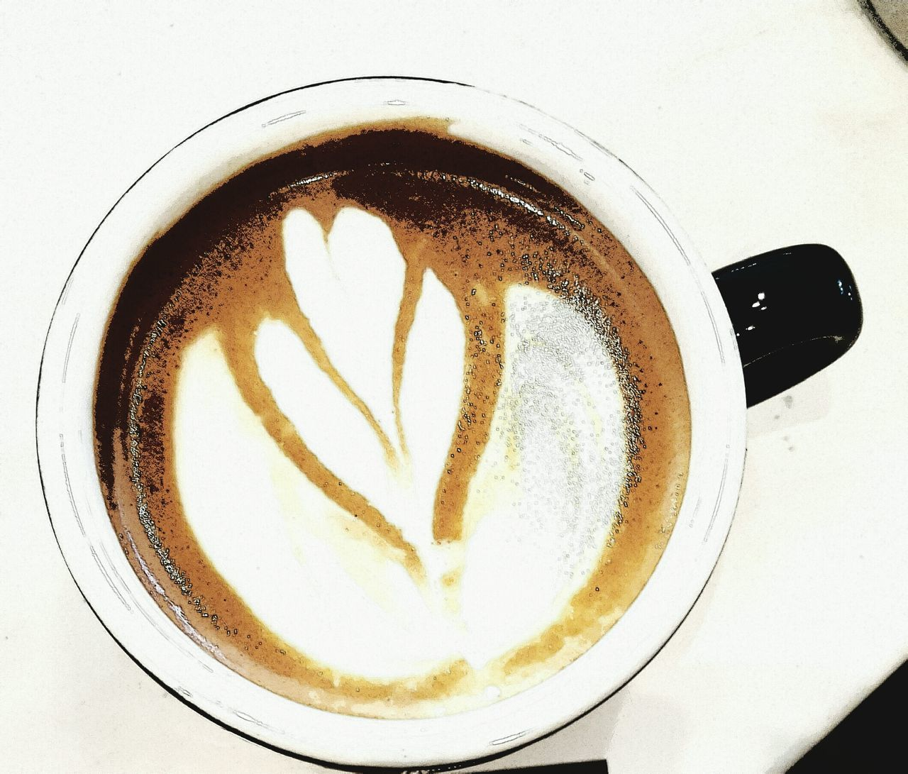 coffee - drink, drink, coffee cup, refreshment, frothy drink, food and drink, cappuccino, froth art, cup, latte, saucer, heart shape, freshness, directly above, close-up, indoors, no people, table, high angle view, healthy eating, day