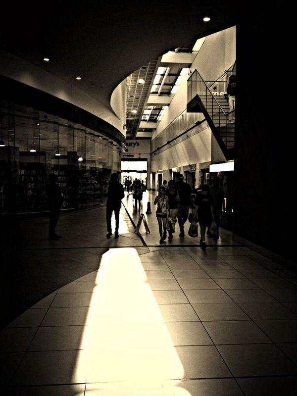 Light And Shadow Walking Around