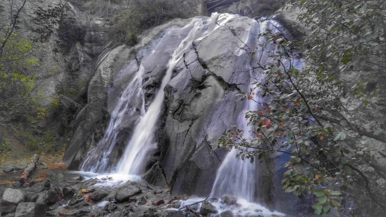 waterfall, nature, motion, water, rock - object, long exposure, beauty in nature, scenics, river, tree, no people, forest, day, outdoors, freshness