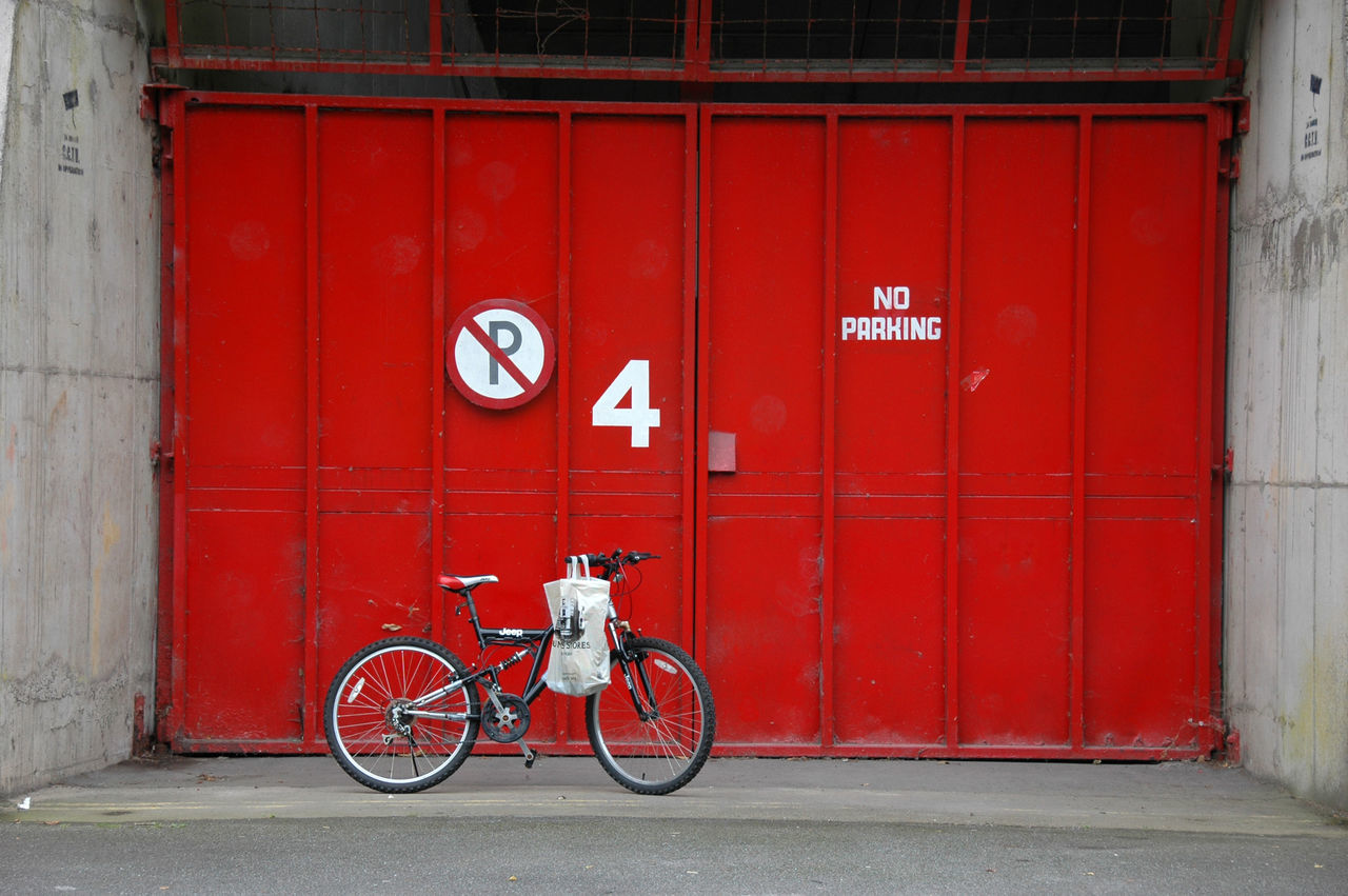 Beautiful stock photos of red, Bicycle, Closed, Day, Gate