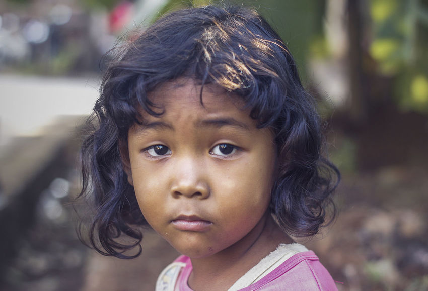 Neighbors Child Children Children Of The World Children's Portraits INDONESIA Indonesian Childhood Children Photography Childrenphoto Close-up Day Focus On Foreground Girls Headshot Innocence One Person Outdoors Portrait Real People