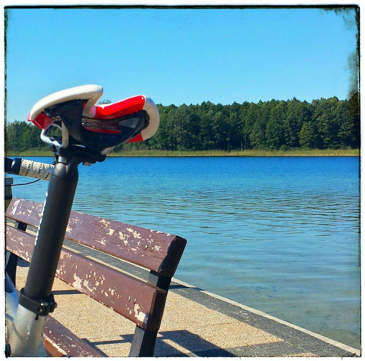 Bike Bicycle Rower Szosa Roadbike Lake Jezioro Skorzecin Summer Lato Summertime Trip Biketrip