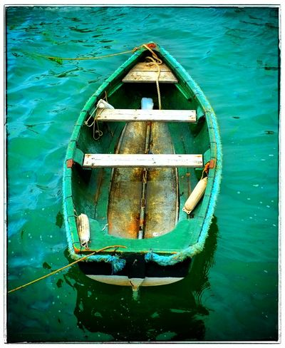 Rowing Boat Green Color Strangford County Down Northern Ireland Small Boat Colour Of Life