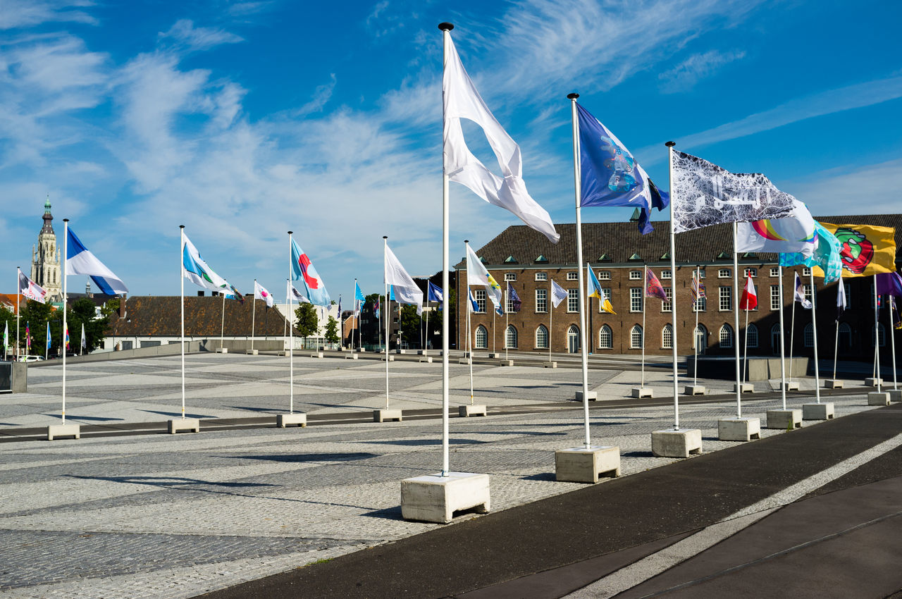 Flags of peace 2017 Breda Breda Chassé Park Flags Of Peace Netherlands Day Flag Flag Pole Flags No People Sky Sunlight