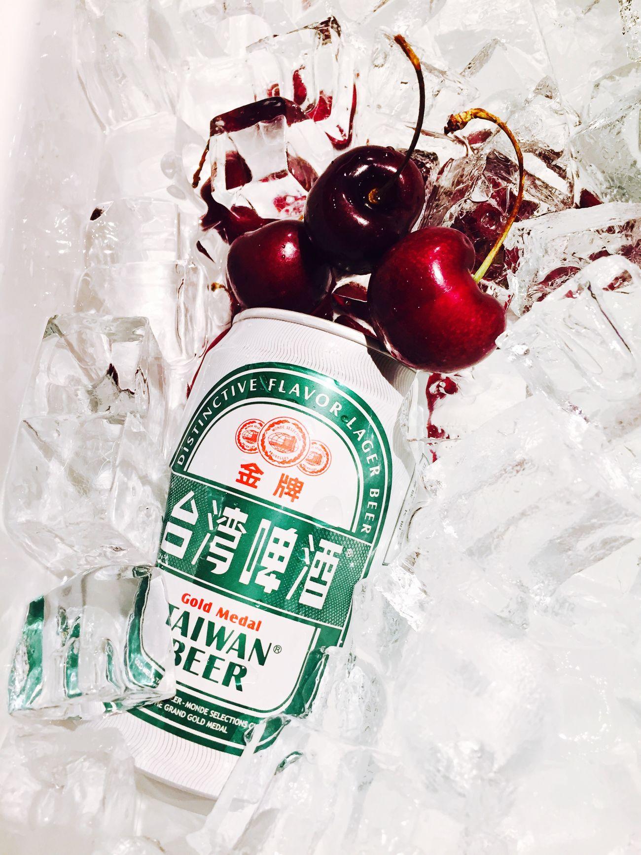 至福の時 朝一で仕入れたチェリーにビール♡ 台灣 台湾 癒し 旅行 Cherry チェリー At the time of supreme bliss At The Time Of Supreme Bliss