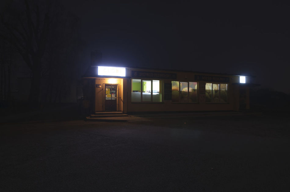 Abandoned Architecture Building Exterior Built Structure Entrance Night No People Outdoors