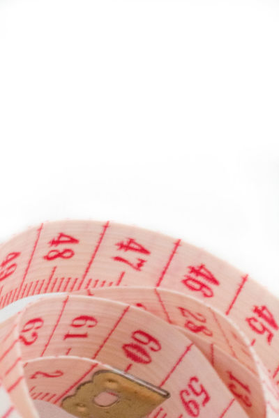 Centimeter Close-up Coil Copy Space Inches Indoors  Measure Millimeter No People Numbers Red Sewing Tape Tape Measure Units White Background