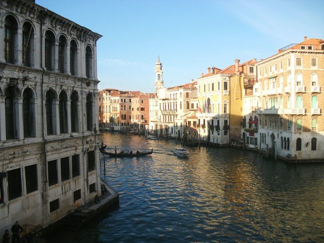Venice, Italy Canal Historic Town Architecture Built Structure Building Exterior Waterfront Travel Photography Tourism Panoramic Photography Landscape Gondola - Traditional Boat Gondole In Venice