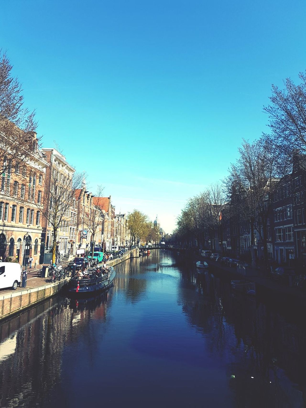Amsterdam, 27th of March 2017 Reflection Water Architecture Sky No People Day Outdoors Tranquility Canal Bridge Buildings Amsterdam Jordaan