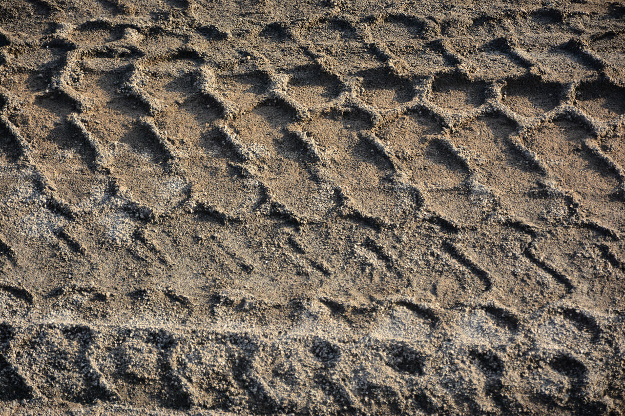 Backgrounds Beach Close-up Day FootPrint Full Frame Impronte Nature No People Outdoors Pattern Pneumatic Preumatik Print Sand Sand Print Textured  Tire Print Tire Track