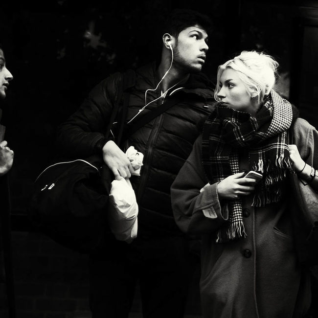 We Are All Variations Tylaar Streetphoto_bw Fujifilm X-Pro1 Bnw Autumn London People Watching For The Love Of Music übercoolStreet Capture The Moment