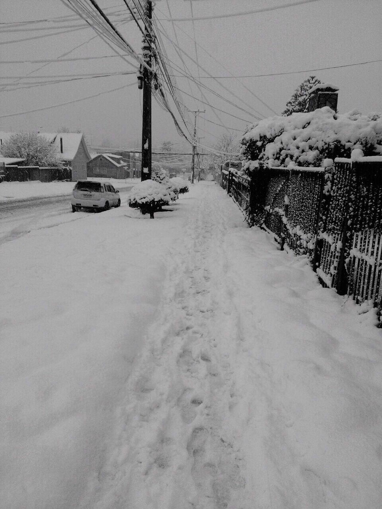 Coyhaique Winter Snow Cold Temperature Road Chilean  Natural Nieve Aysén