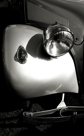 Vintage Citroen car Vintage Car Radiator Transportation Journey No People Engineering Close-up Headlamp Headlamp Vintage Car Monochrome. Black And White