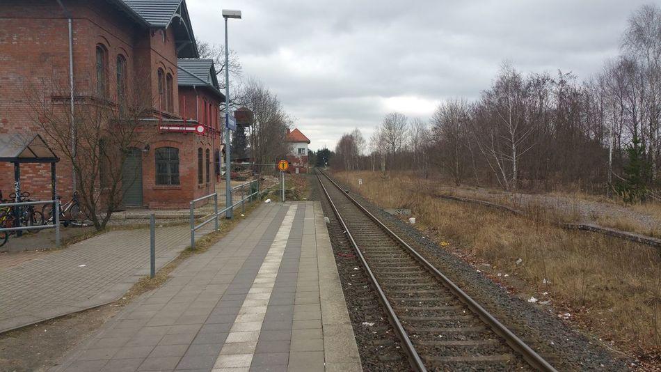 Railwaystation Kremmen In Brandenburg , Bahnhof Railway Railroad Historical Building Tree Nature Landscape Check This Out Relaxing ohne Filter 2016