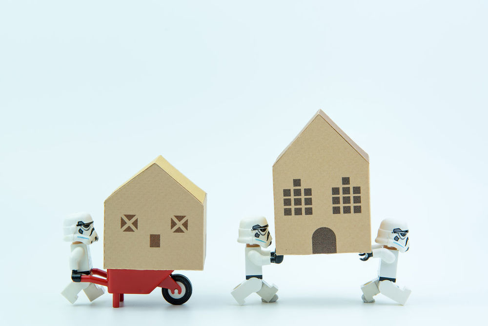 Nonthaburi, Thailand - March, 07, 2017 : Lego star wars stormtrooper help together carry the paper house.Real estate concept, New house concept. Backgrounds Cardboard Box Carry Change Dathvader Finance Fun Home House Improvement LEGO Moving House No People Paper Papercraft Piggy Bank Plastic Savings Starwars Stormtrooper Studio Shot Toy Toy Block White White Background