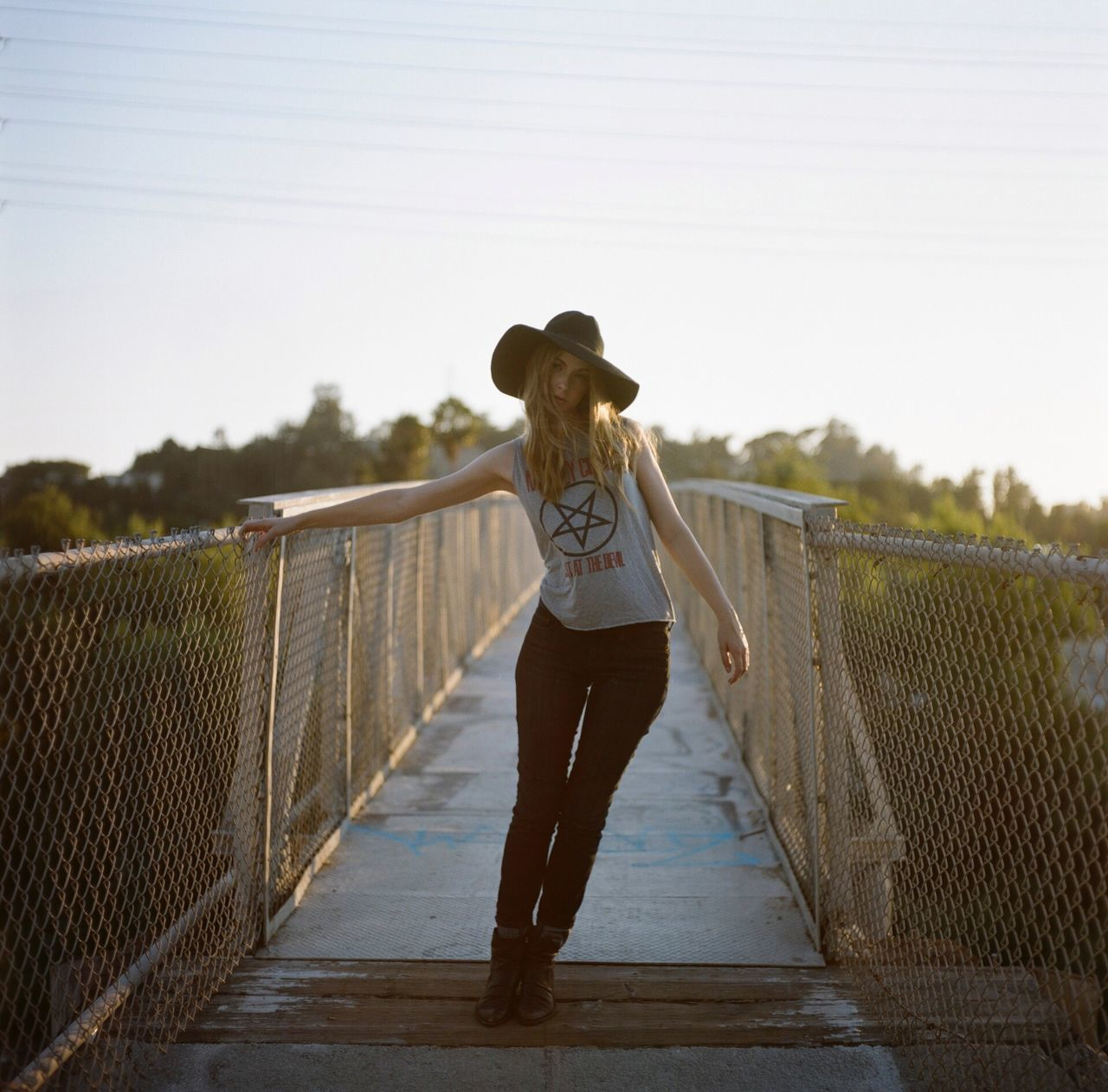 Beautiful stock photos of coole, Blond Hair, Bridge, Casual Clothing, Clear Sky