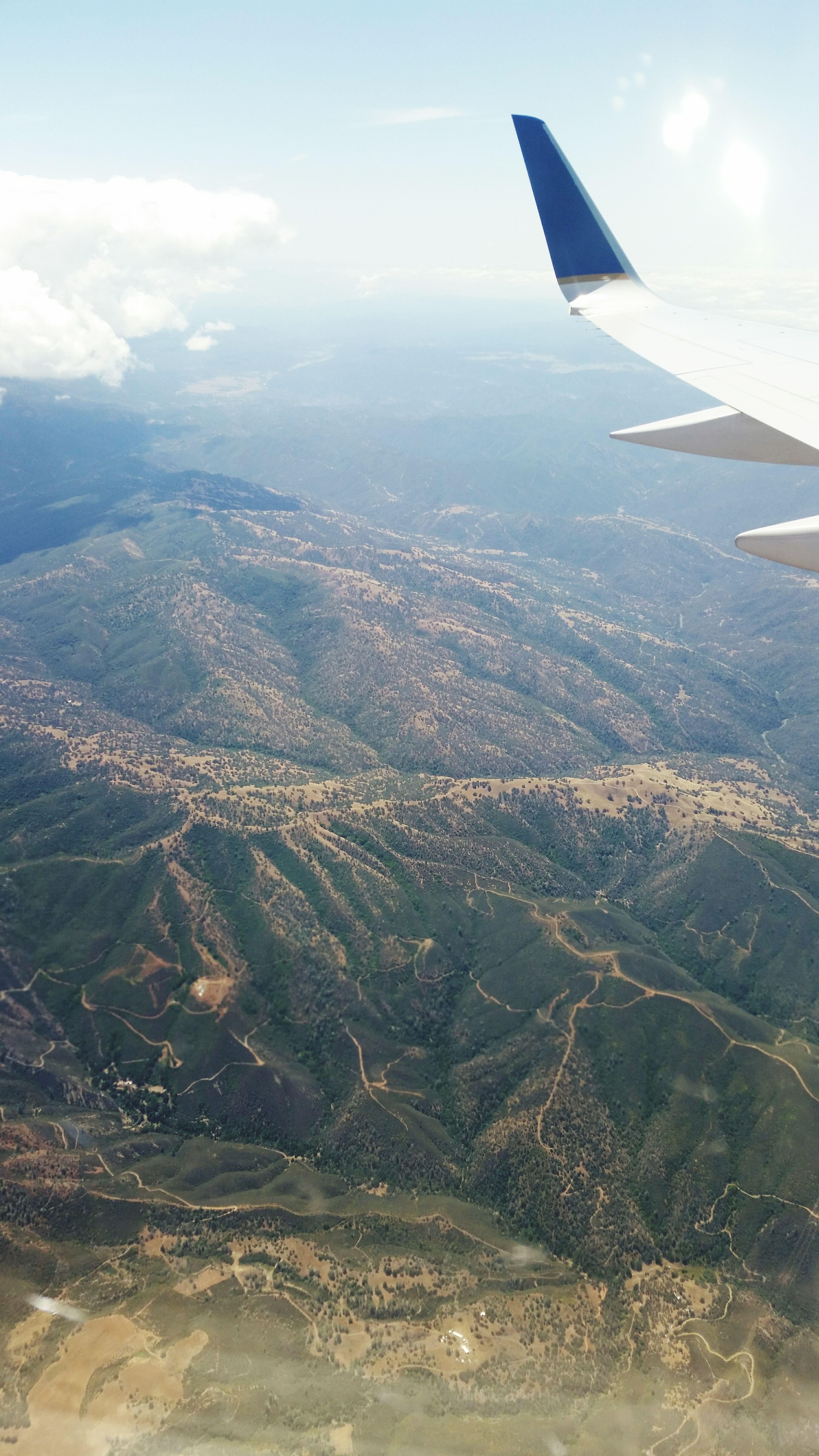 Aerial Shot Nytosf Plane Mountains