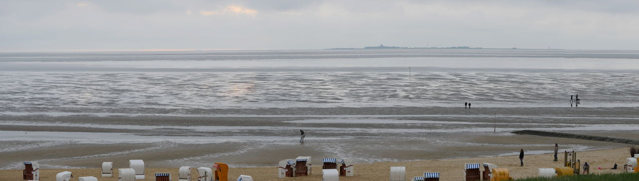 Coastline Horizon Over Water Landscape Mud Flat Nature Non-urban Scene Northsea Ocean Outdoors Panorama Panoramic Landscape People And Places Shore Seascape Idyllic Tourism Non Urban Scene Taking Photos From My Point Of View People Shoreline Seaview