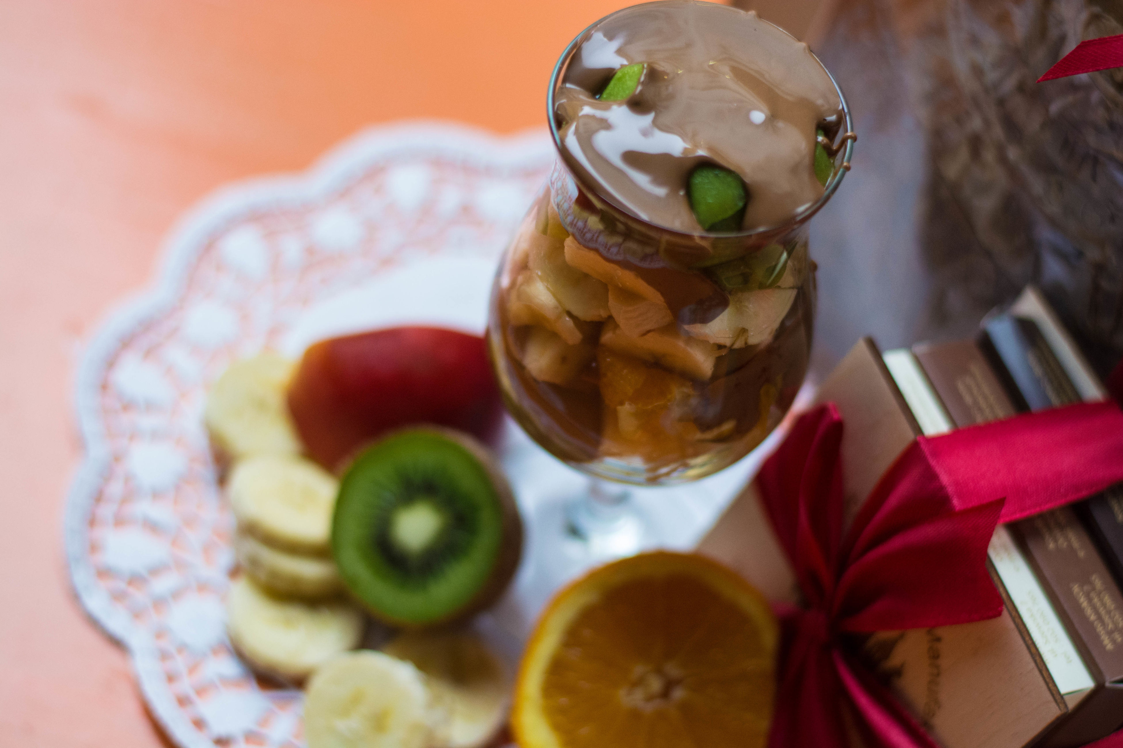 food and drink, indoors, food, freshness, ready-to-eat, still life, sweet food, table, dessert, indulgence, plate, unhealthy eating, serving size, close-up, temptation, fruit, drinking glass, refreshment, high angle view