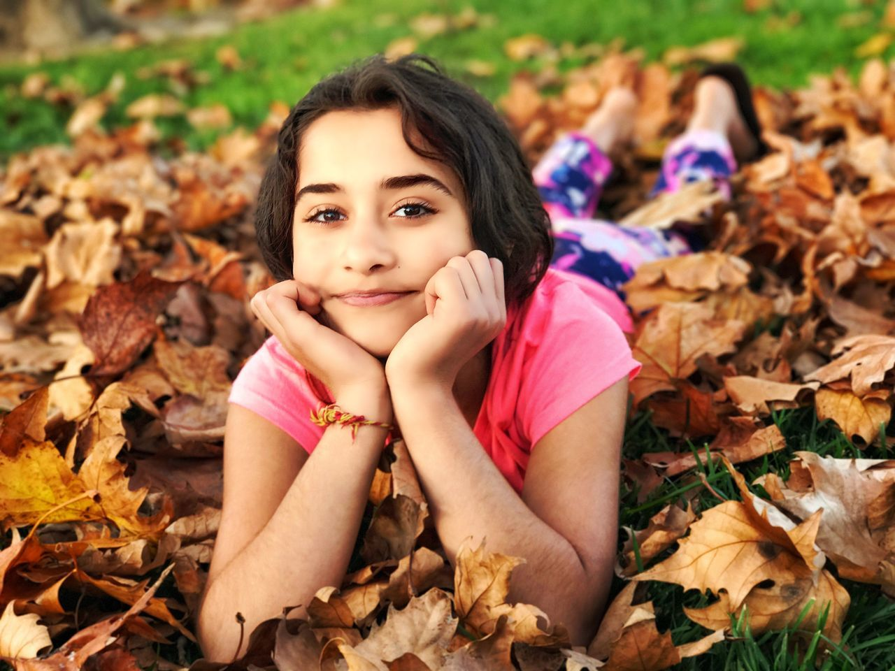 With kids in the park Looking At Camera Portrait Beautiful People Autumn Beauty Leaf Contemplation Outdoors Nature Beauty In Nature Beautiful Woman One Person Sitting Adult Women Young Adult Lying Down People Smiling Close-up