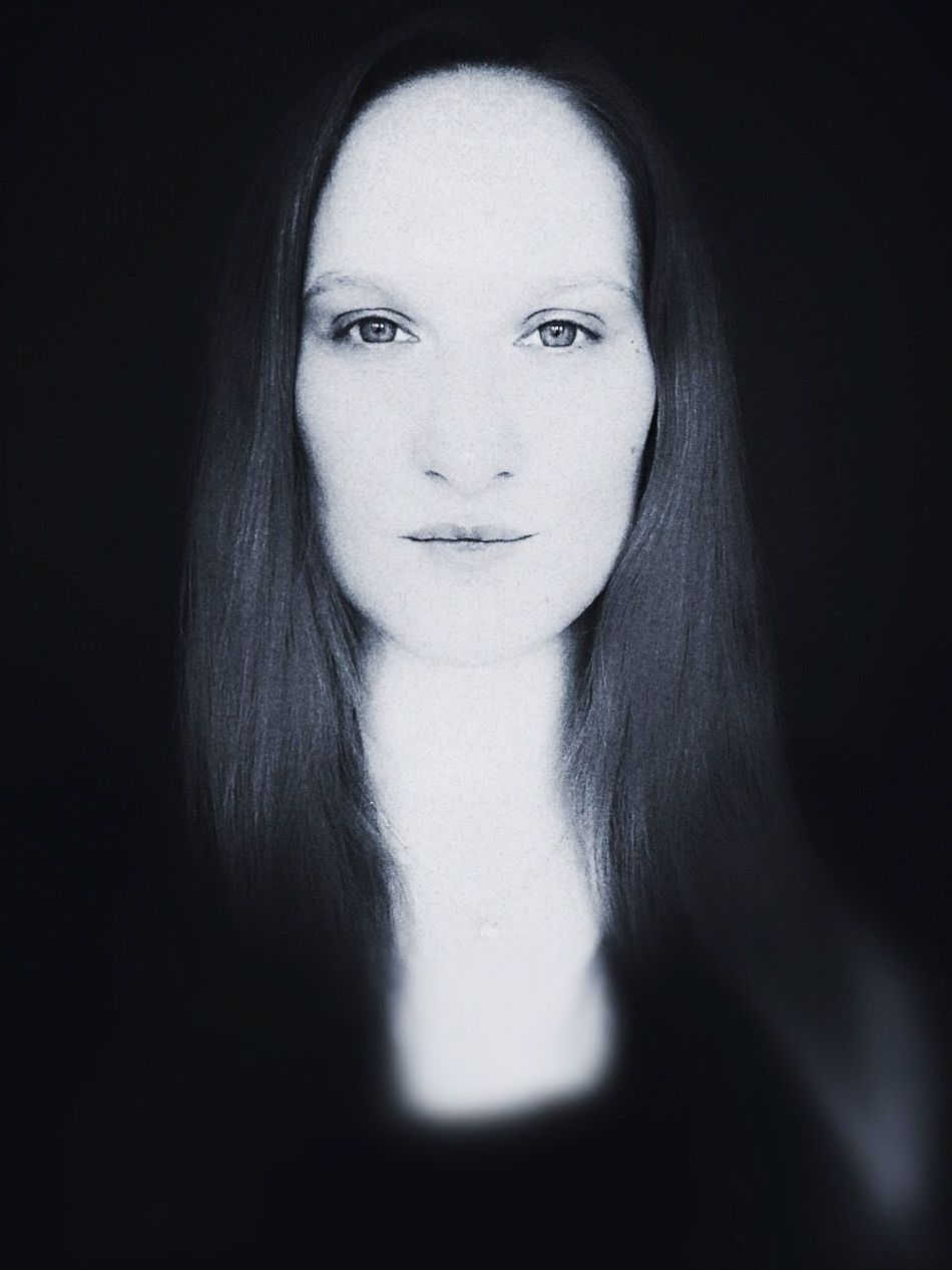 Self Portrait Portrait Female Iphonography Iphoneonly Blackandwhite Direct View Soft Softness Flowing Face Elementary