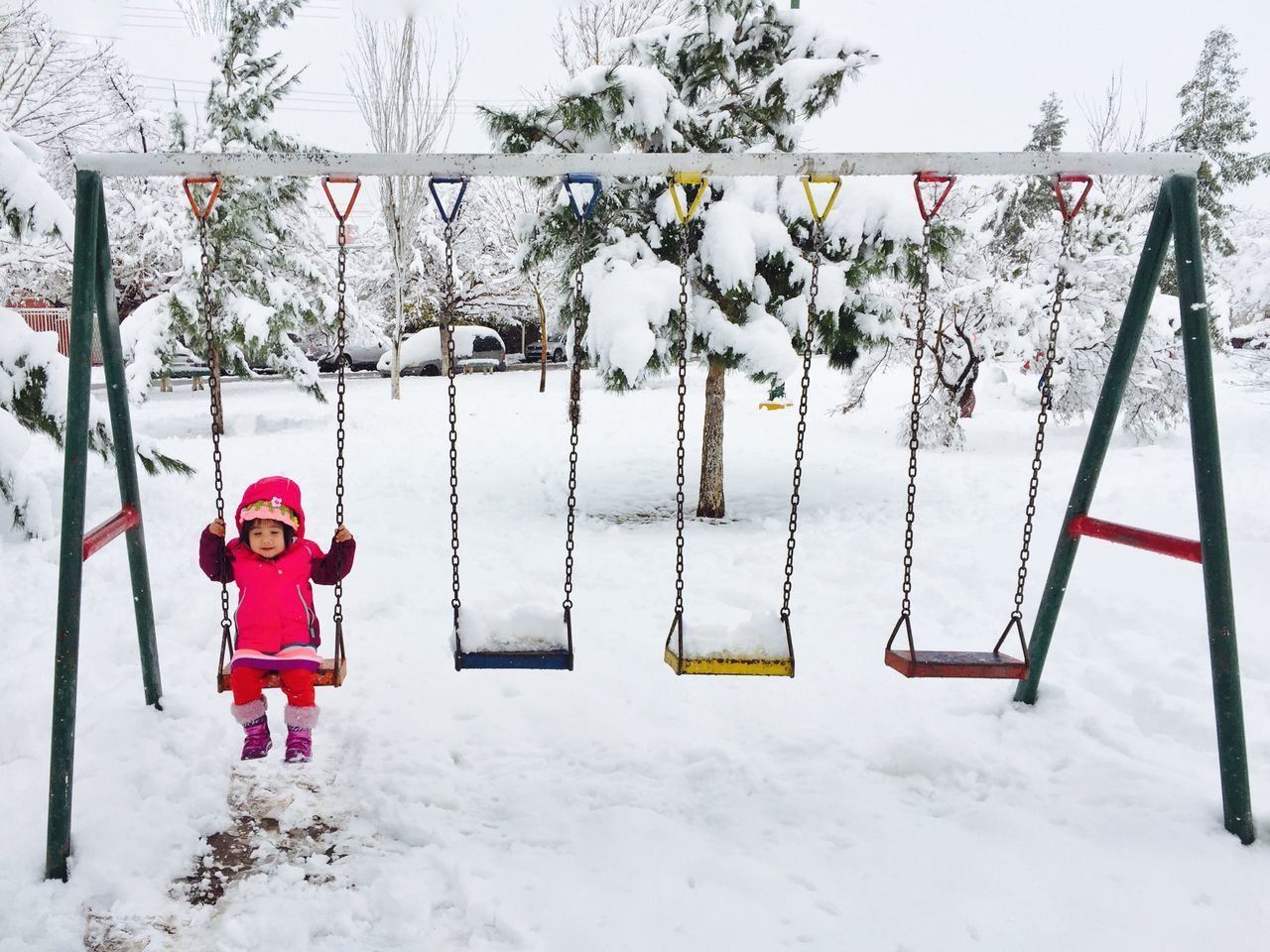 Day 356 - The Swings. - iPhone 6 - Native Camera App - Native Edit & Snapseed Apps Iphoneonly IPhoneography IPhone Juarez Mexico Ciudad Juárez Snow ❄ Swing Its Cold Outside It's Cold Outside