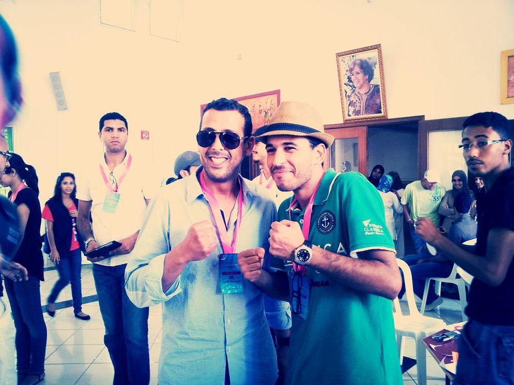 avec Lkhssem pendant une action au profite des enfants de Sidi Moumen