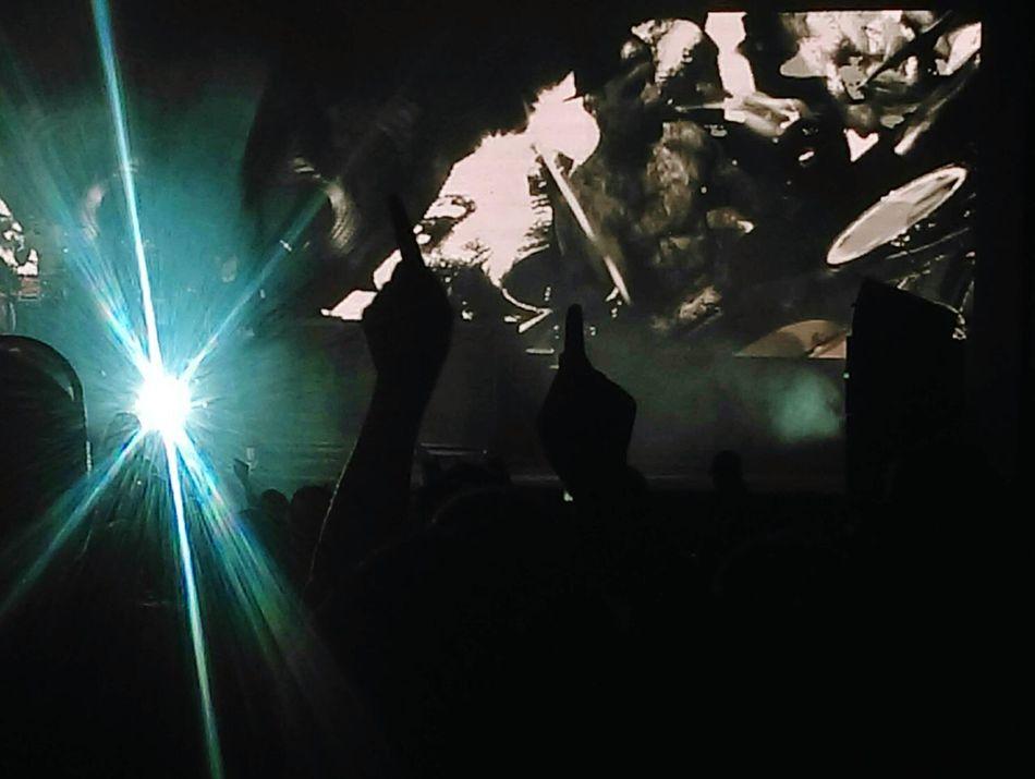Bangor, Maine Nightlife Outline Blink182 Alltimelow ADayToRemember Concert Rock Dark Crowd
