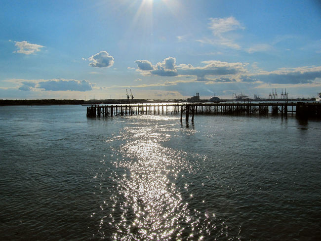 Beauty In Nature Built Structure Hythe Pier Pier Sky Tranquil Scene Tranquility Water