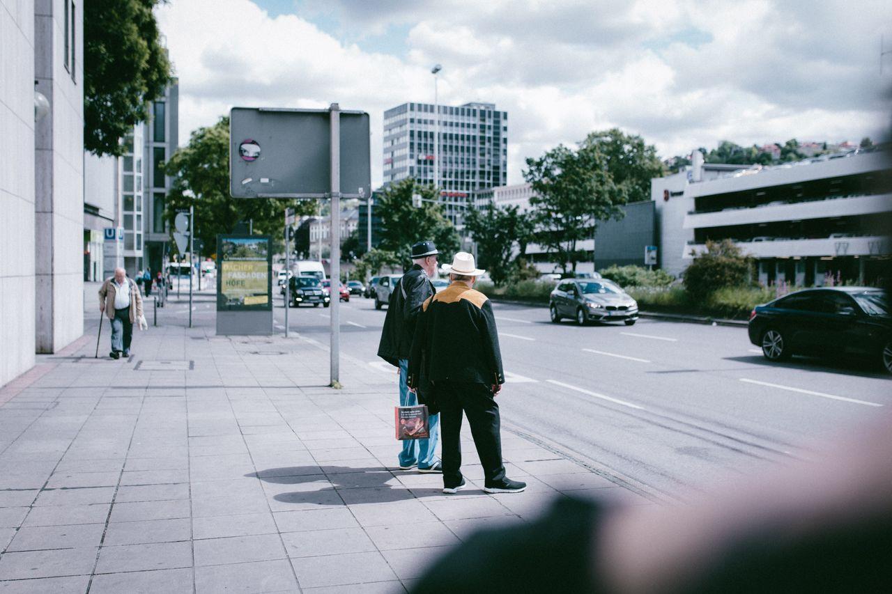 Walking Street Men Conversation City City Life Urban Summer Summertime