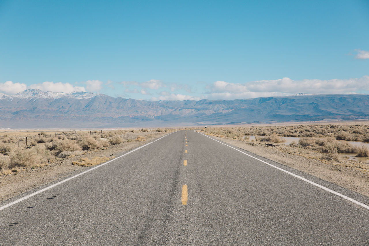 Arid Climate Arid Landscape Blue Sky CA-190 California Death Valley Desert Landscape Mountain Range Nature Road Roadtrip