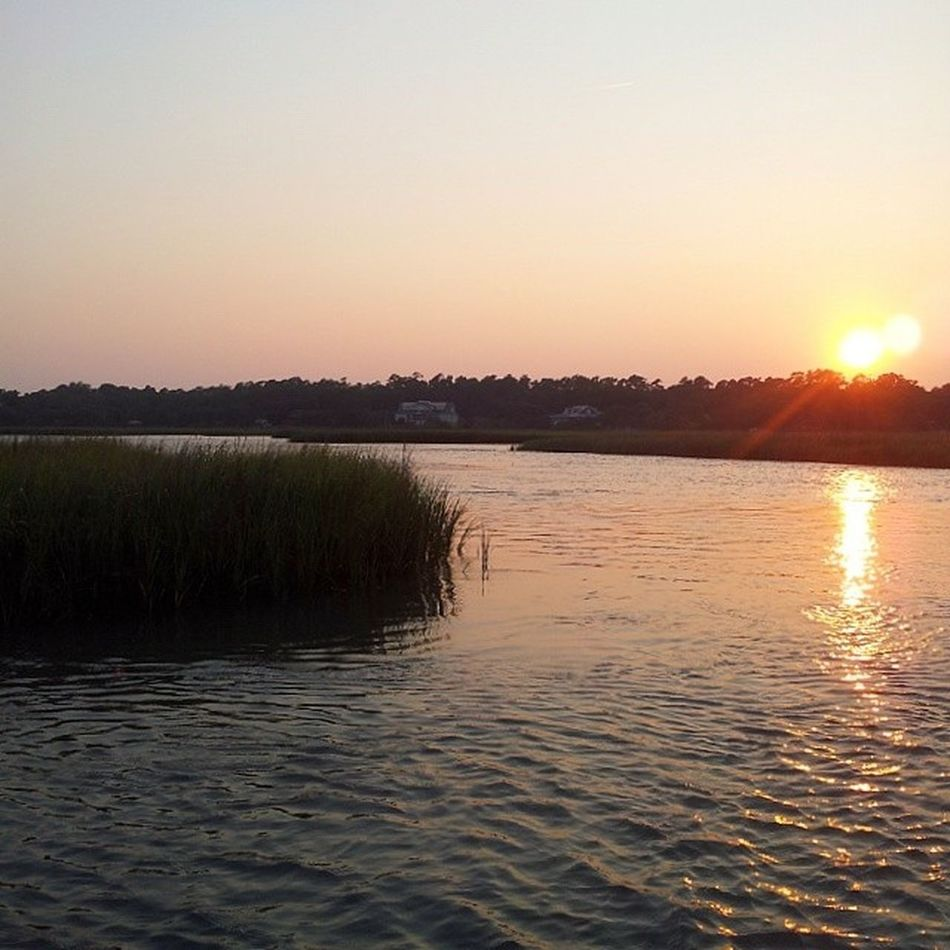 Pawleys sunsets are the best. Pawleys Pawleysisland Sunset Creekdock Creek