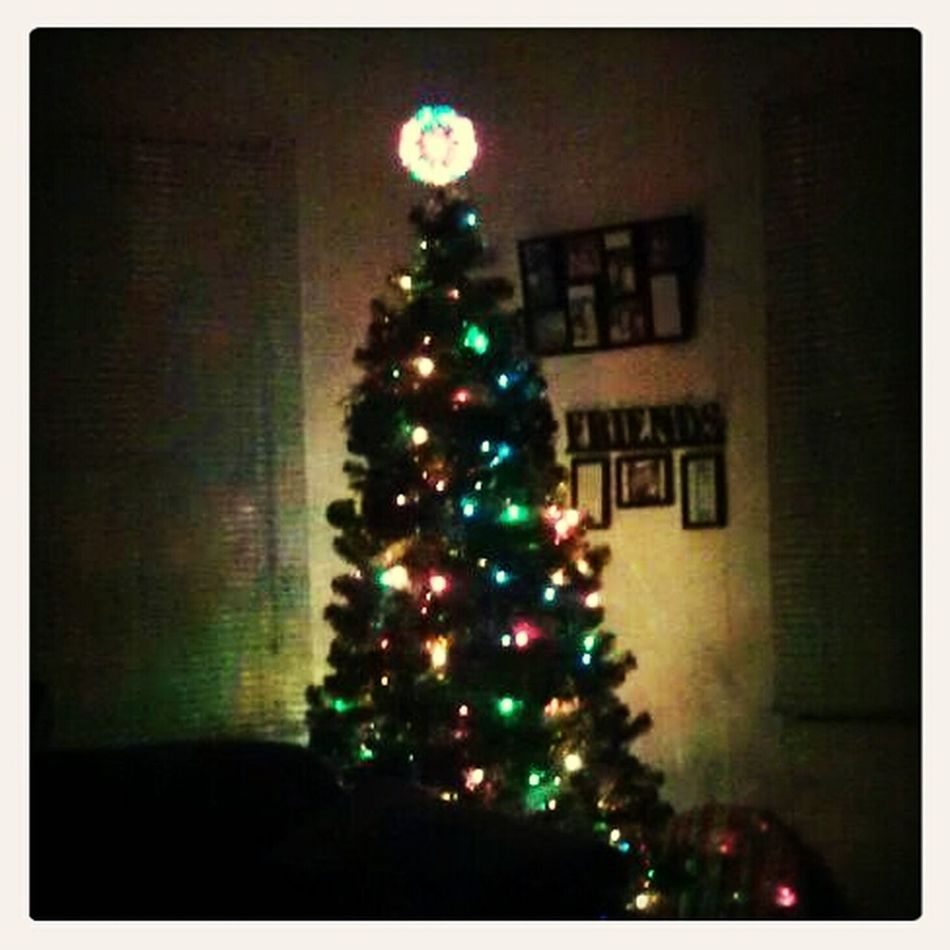 I was goin to be a Grinch and not put my tree up... but as you can see I did..lol