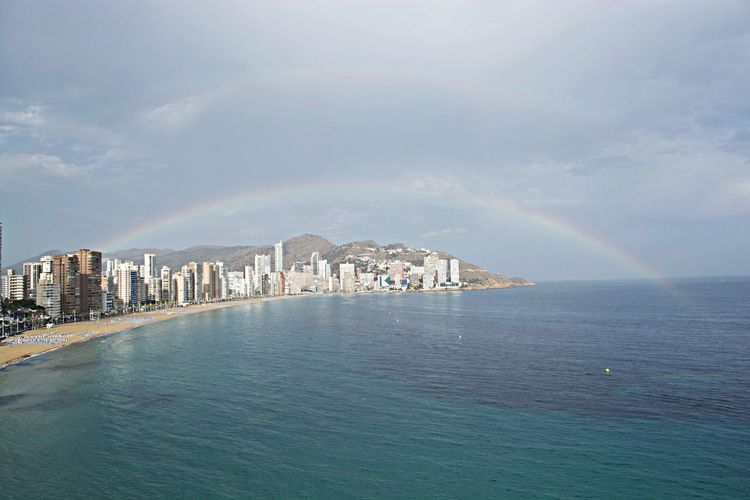Double rainbow over Benidorm Rainbows Benidorm Check This Out Doble Rainbow