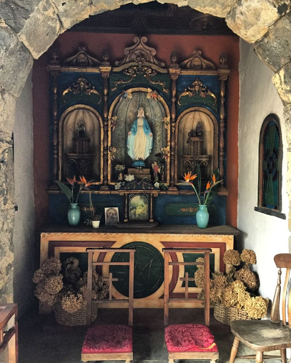 Altare votivo. Religion Place Of Worship Spirituality Day Indoors  No People
