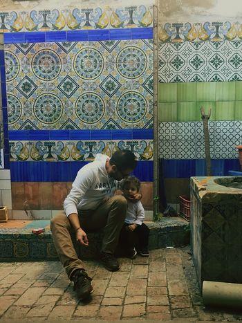 Ceramics Ceramic Niños Padre Amor Protection Protector