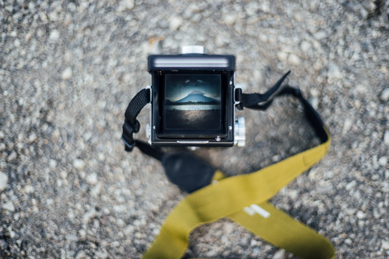 Camera - Photographic Equipment Close-up Different Perspective Fuji Fuji Mountain Mt Fuji Nature No People Outdoors Photography Themes Point Of View Selective Focus Through The Camera