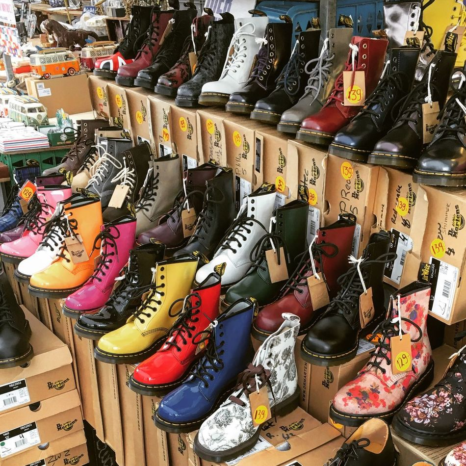 Retail  Shoe Store Market Amsterdam DR.MARTENS Open Air Waterlooplein Netherlands Grunge Modern