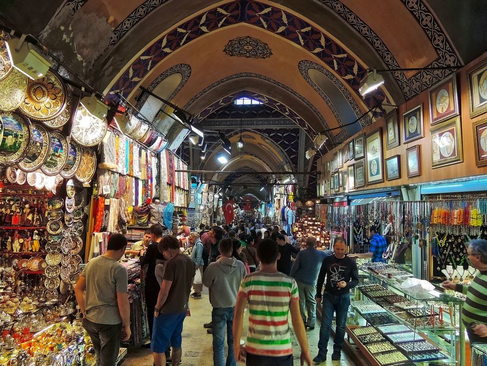In the Grand Baazar in Istanbul. Architecture Building Day Goods Grand Bazar Istanbul Illuminated Indoors  Istanbul People Store Travel Destinations Turkey