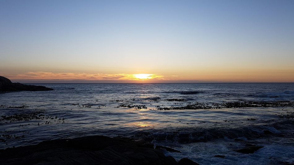 Sea Sunset Sky Beach Beauty In Nature Water Horizon Over Water Scenics Nature Tranquility Travel Destinations Tranquil Scene Outdoors No People Wave Day Cape Town South Africa 🇿🇦 Western Cape Cape Town, South Africa Sunset Over Africa God's Glory On Display  Point Of View From Where I'm Standing
