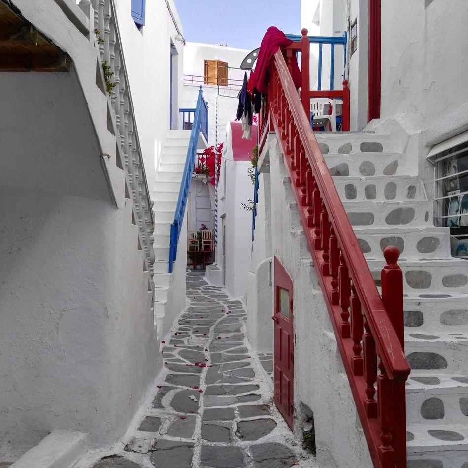 typical street in Mykonostown so Lovely
