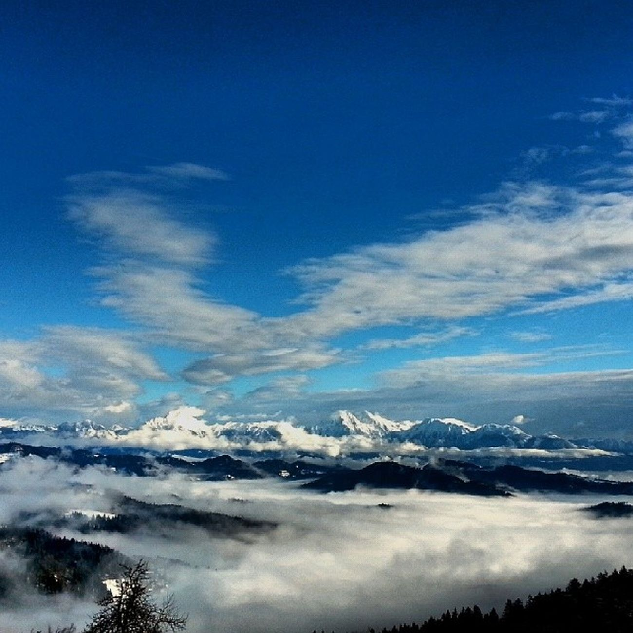 Slovenia Ski Stari_vrh Landscape winter snow