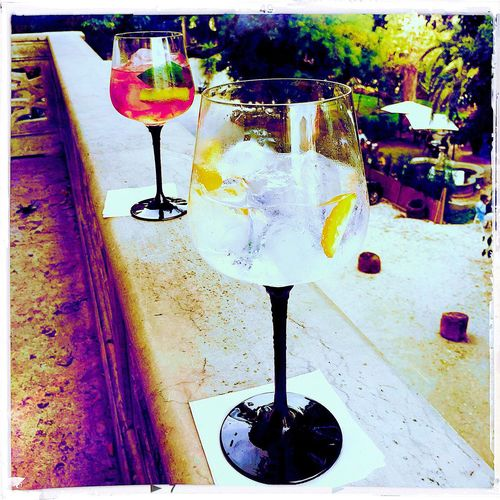 Gin Tonic When In Lisboa Lunch Enjoying Life Saturday Afternoon Local Product Gin A Clock