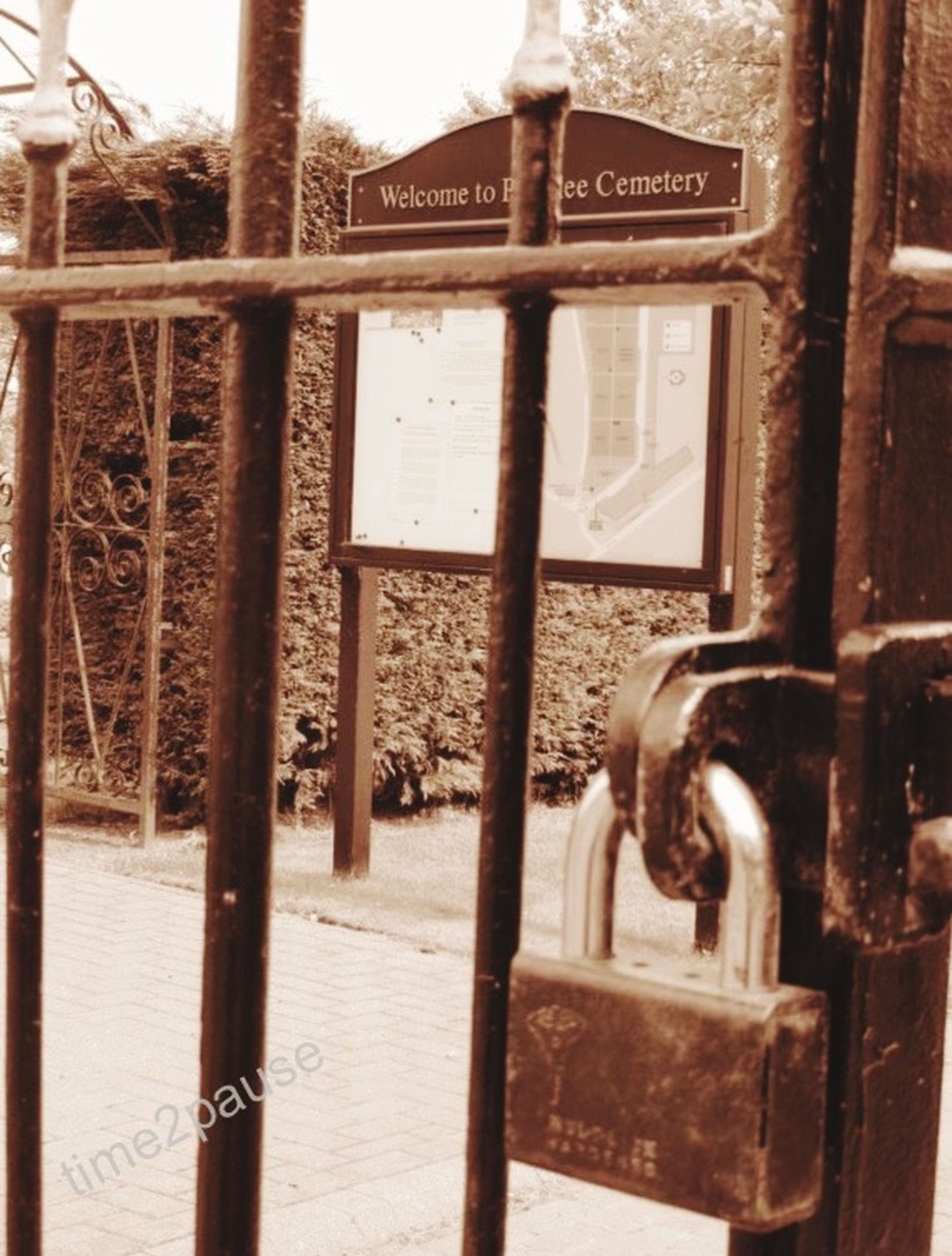 metal, text, metallic, communication, western script, rusty, safety, close-up, railing, gate, protection, security, built structure, information sign, padlock, day, architecture, old, connection, sign