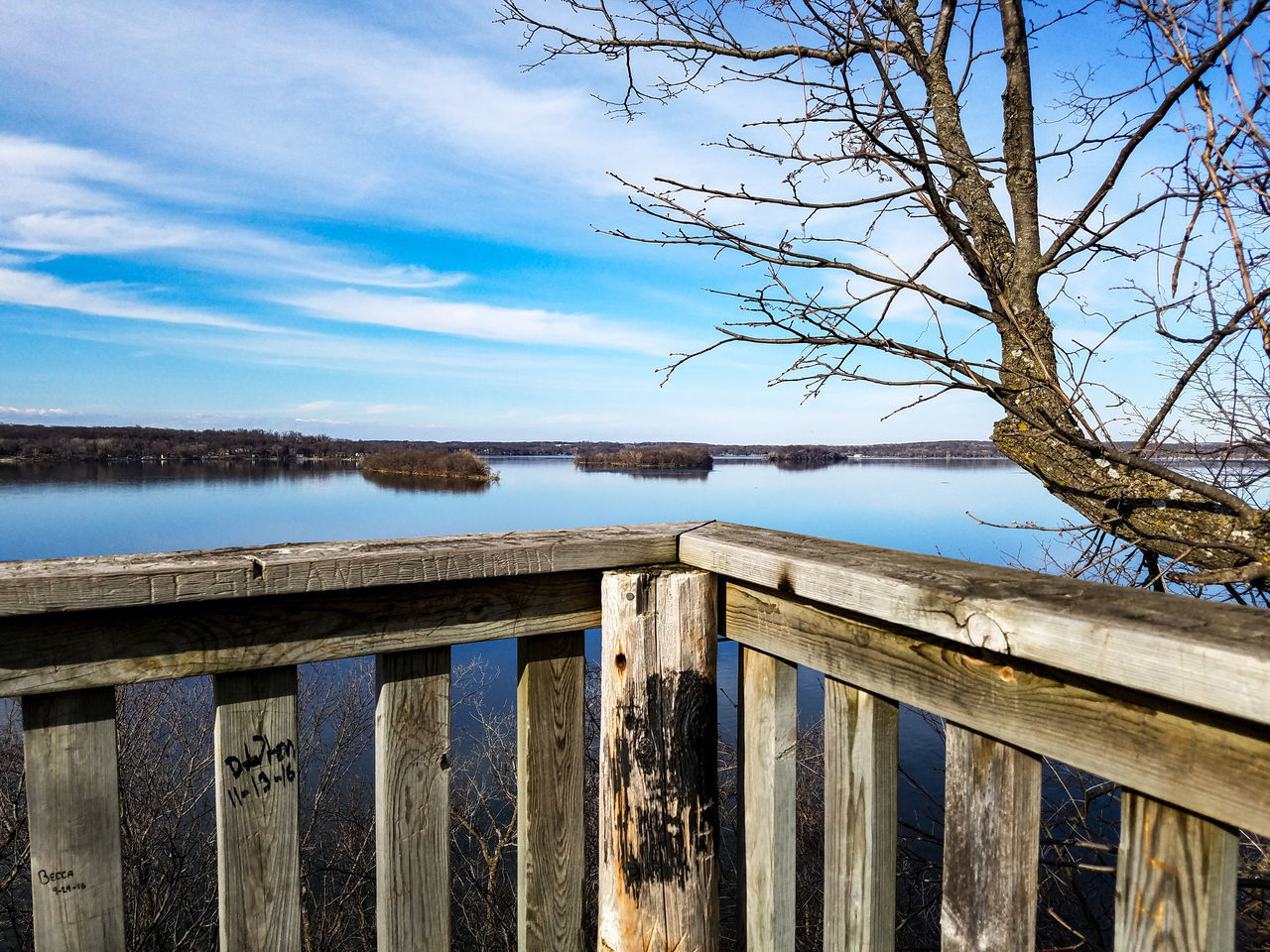 wood - material, sky, nature, pier, tranquility, day, outdoors, no people, water, lake, beauty in nature, scenics, tree