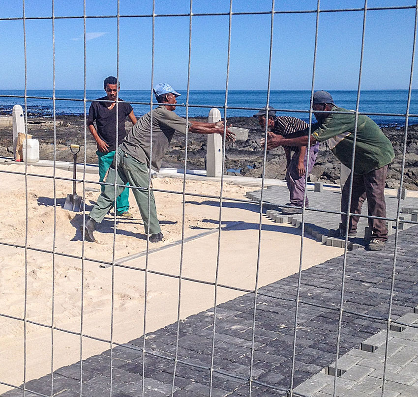 "the ""brick toss"" Construction Work Day Manual Labor Occupation Ocean Real People South Africa Streetphotography"