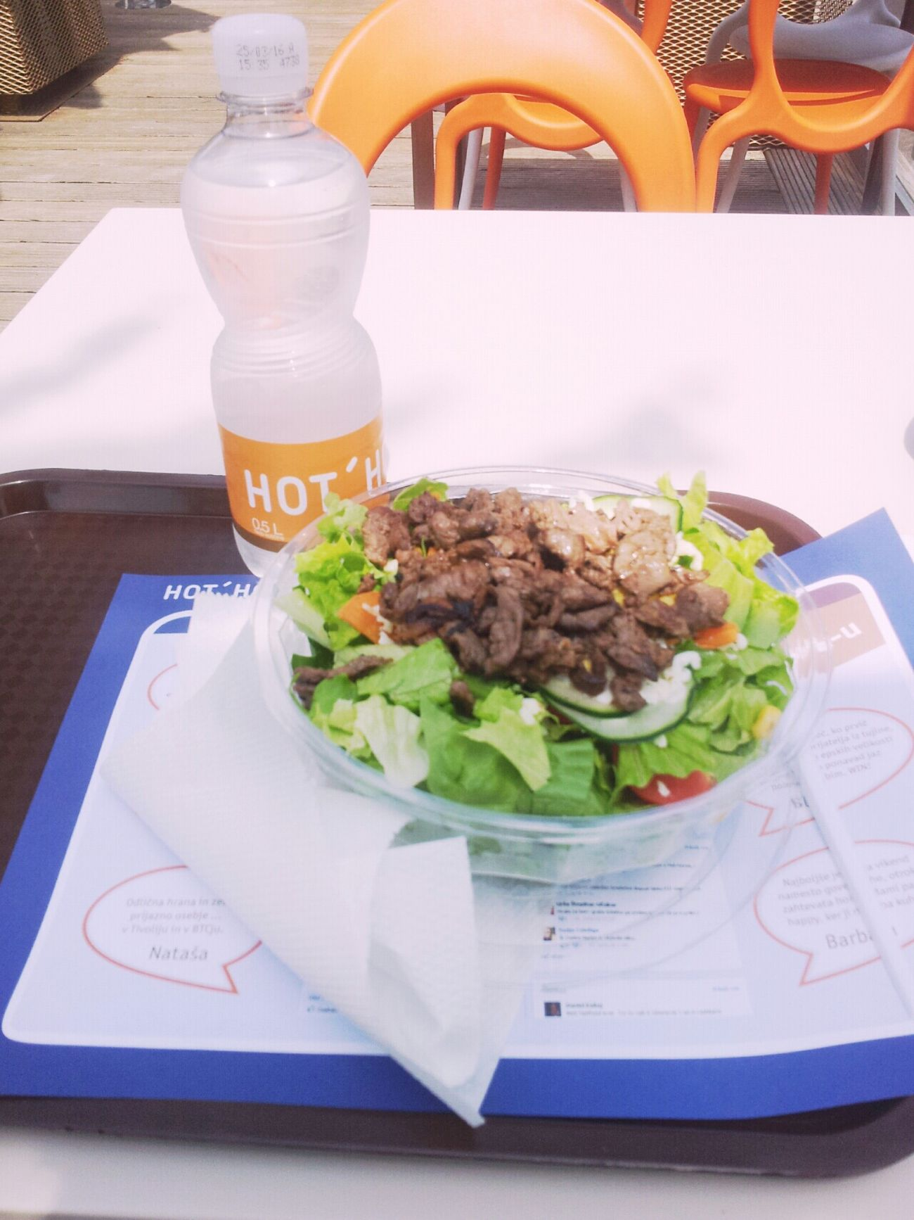 Hot Horse Salad Saladtime Water Healthy Food